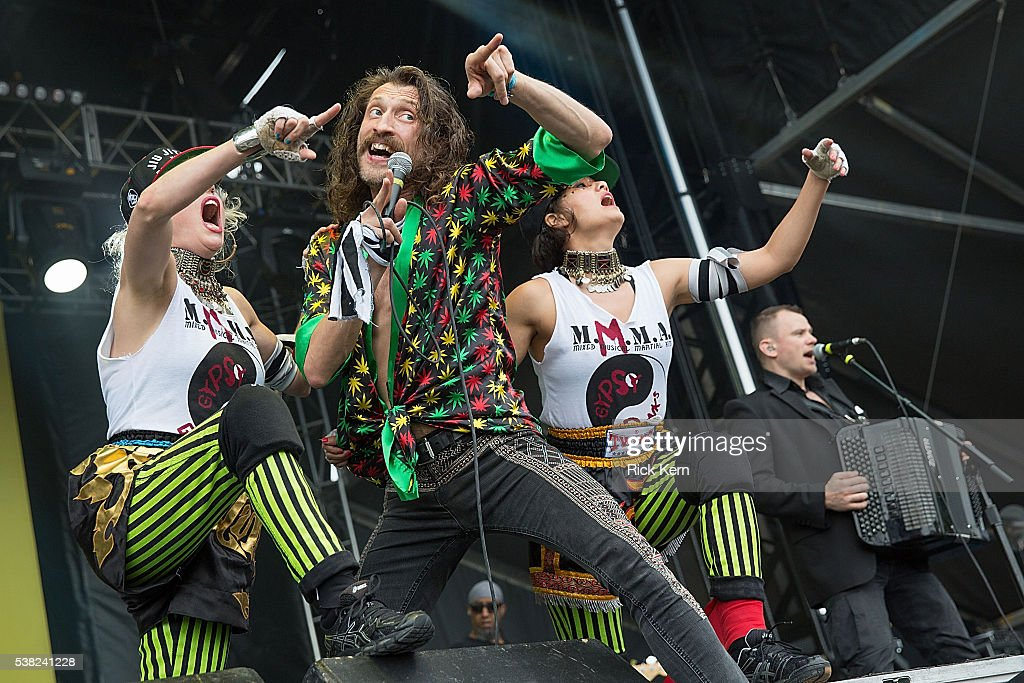 Musician/vocalist Eugene Hutz of Gogol Bordello performs onstage during day one of Free Press Summer Festival on June 2, 2016 in Houston, Texas.