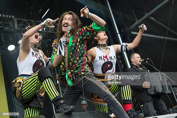 Musician/vocalist Eugene Hutz of Gogol Bordello performs onstage during day one of Free Press Summer Festival on June 2 2016 in Houston Texas