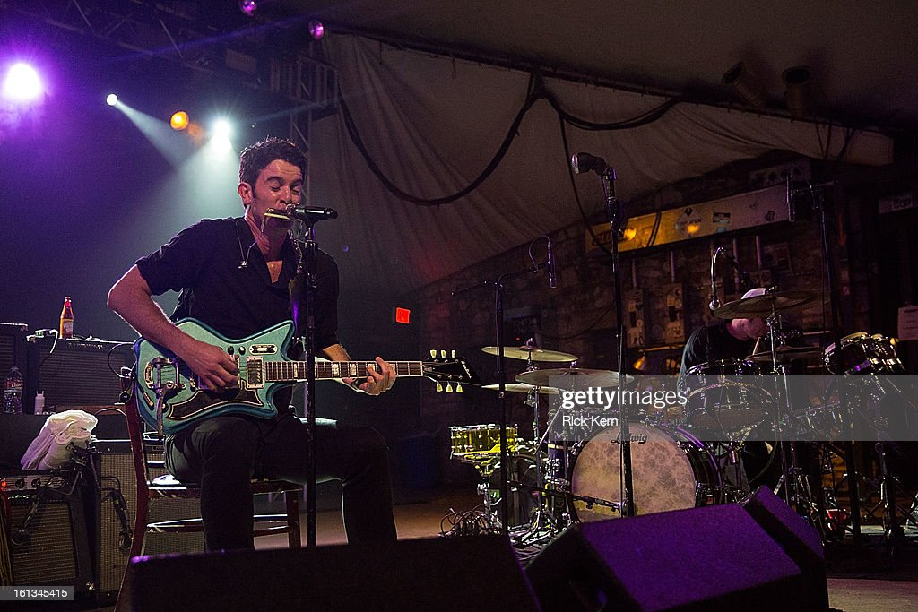 Musician/vocalist Garrett Dutton, aka <a gi-track='captionPersonalityLinkClicked' href=/galleries/search?phrase=G.+Love&family=editorial&specificpeople=564135 ng-click='$event.stopPropagation()'>G. Love</a>, of <a gi-track='captionPersonalityLinkClicked' href=/galleries/search?phrase=G.+Love&family=editorial&specificpeople=564135 ng-click='$event.stopPropagation()'>G. Love</a> & Special Sauce performs in concert at Stubb's Bar-B-Q on February 9, 2013 in Austin, Texas.