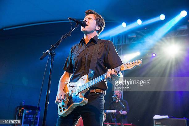 Musician/vocalist Jim Adkins of Jimmy Eat World performs in concert at Stubb's BarBQ on May 18 2014 in Austin Texas