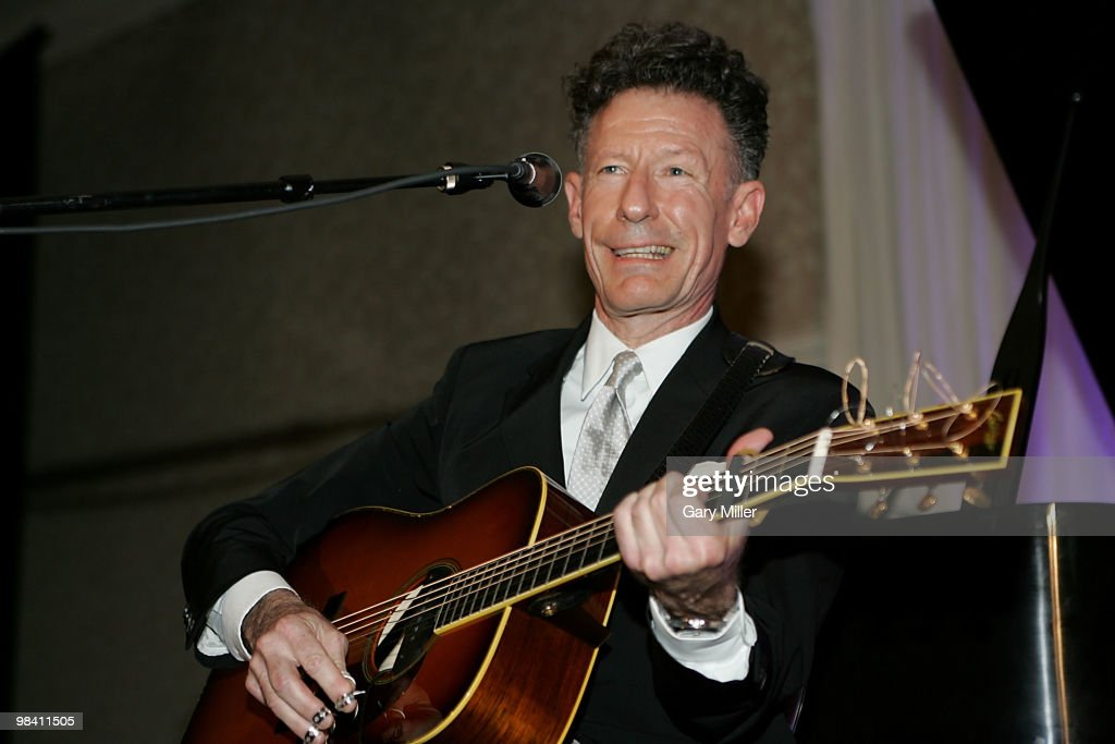 Musician/vocalist Lyle Lovett performs at the Nobelity Project's dinner honoring Willie Nelson with the 'Feed The Peace' award at the Four Seasons Hotel on April 11, 2010 in Austin, Texas.