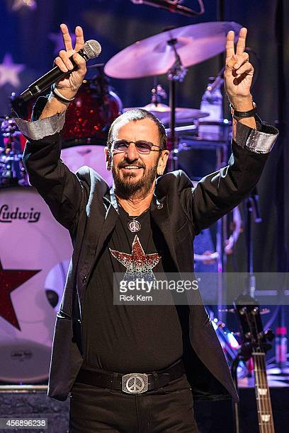 Musician/vocalist Ringo Starr performs in concert at ACL Live on October 8 2014 in Austin Texas