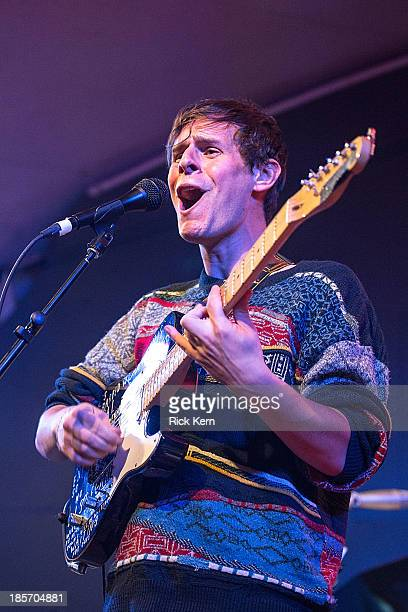 Musician/vocalist Robert Coles of Little Comets performs in concert at Stubb's BarBQ on October 23 2013 in Austin Texas