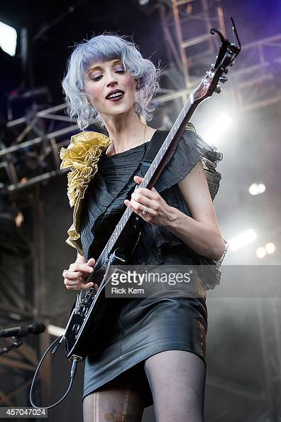 Musician/vocalist St Vincent aka Annie Clark performs on stage during weekend two day one of Austin City Limits Music Festival at Zilker Park on...
