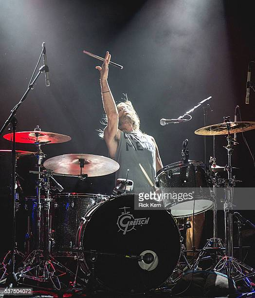 Musician/vocalist Taylor Hawkins of Chevy Metal performs in concert during the X Games Kickoff Bash at Stubb's BarBQ on June 1 2016 in Austin Texas