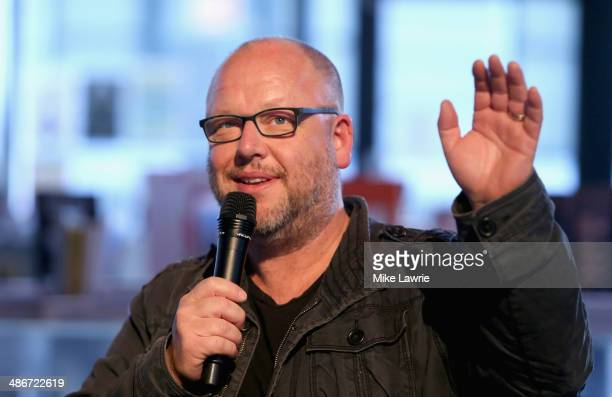 Musician/writer Black Francis speaks during a signing of 'The Good Inn' at PowerHouse Arena on April 25 2014 in the Brooklyn borough of New York City