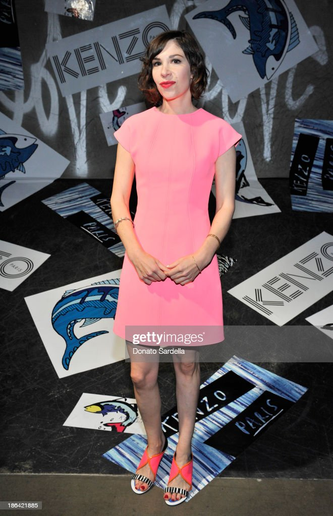Musician/writer/actor Carrie Brownstein attends the Kenzo Kalifornia launch dinner and party at The Berrics on October 30, 2013 in Los Angeles, California.