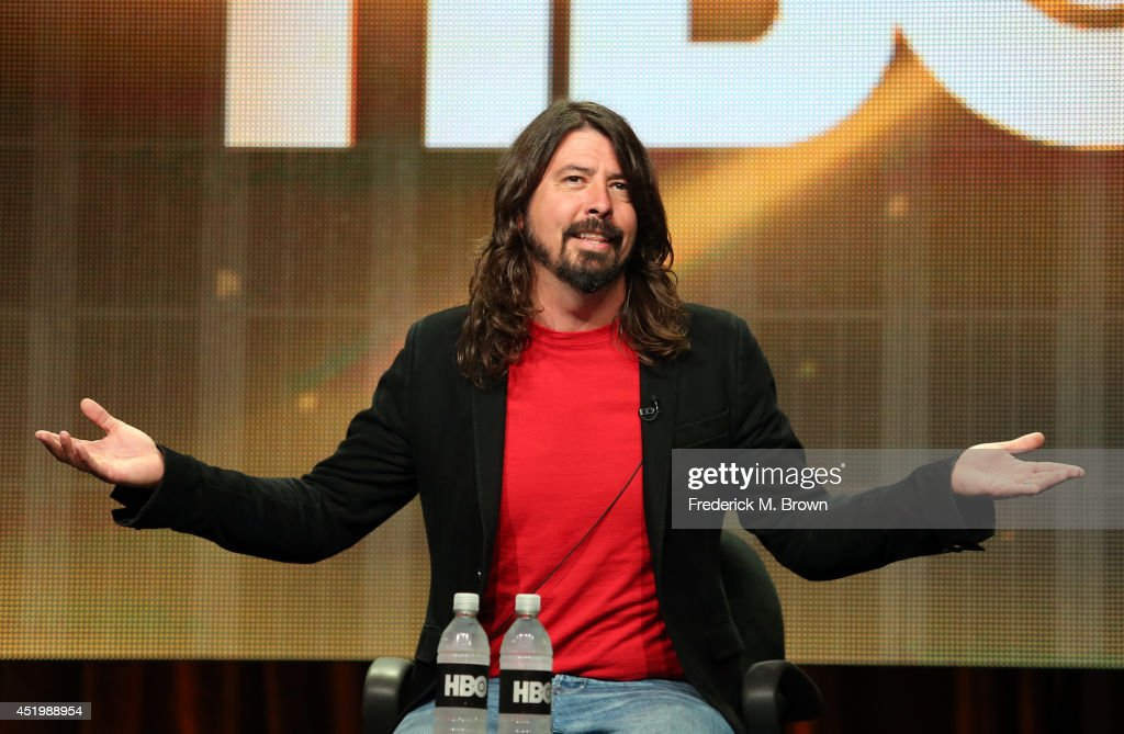Musician/writer/director <a gi-track='captionPersonalityLinkClicked' href=/galleries/search?phrase=Dave+Grohl&family=editorial&specificpeople=202539 ng-click='$event.stopPropagation()'>Dave Grohl</a> speaks onstage at the 'Foo Fighters: Sonic Highways' panel during the HBO portion of the 2014 Summer Television Critics Association at The Beverly Hilton Hotel on July 10, 2014 in Beverly Hills, California.