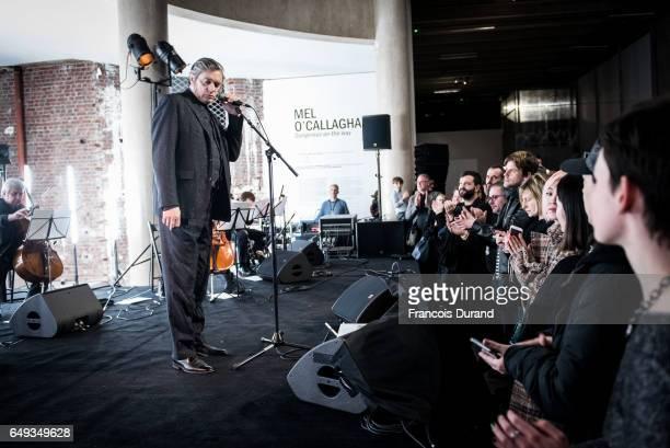 Musicien Blixa Bargeld performs during a Yang LI event At Palais de Tokyo as part of the Paris Fashion Week Womenswear Fall/Winter 2017/2018 on March...