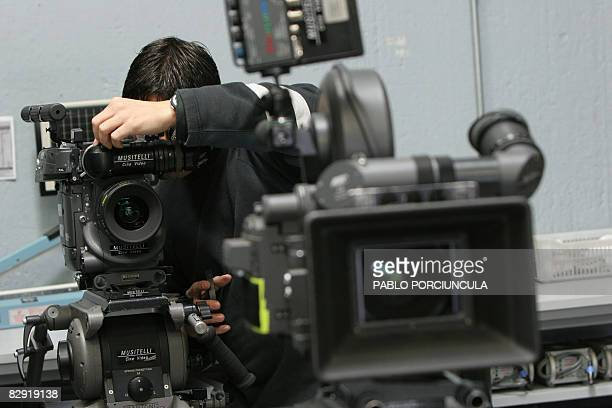 Musitelli Films company employee prepares film movie cameras rented by a producing company 27 September 2007 in Montevideo The explosion of the...