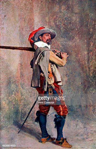 A musketeer c1600c1650 From Penrose's Pictorial Annual 19081909 An Illustrated Review of the Graphic Arts Volume 14 edited by William Gamble and...