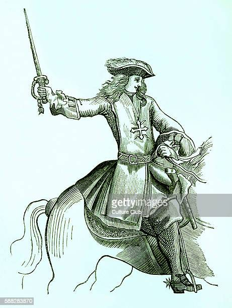 A musketeer / mousquetaire du roi during the reign of Louis XIV in 1688 France
