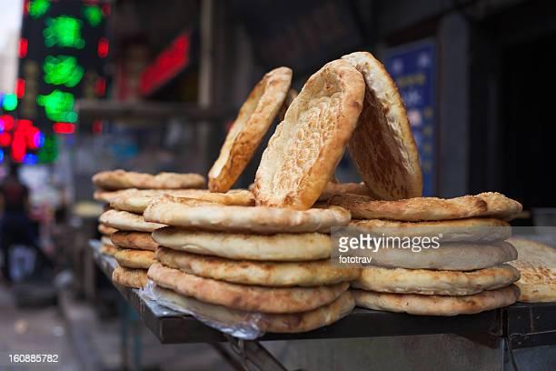 Muslim bread in Xi'An street food, China