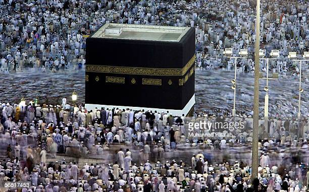 Muslim circulate around Holy Kabba the holiest places for Muslims around the world on January 3 2006 in Mecca Saudi Arabia More than 13 million...