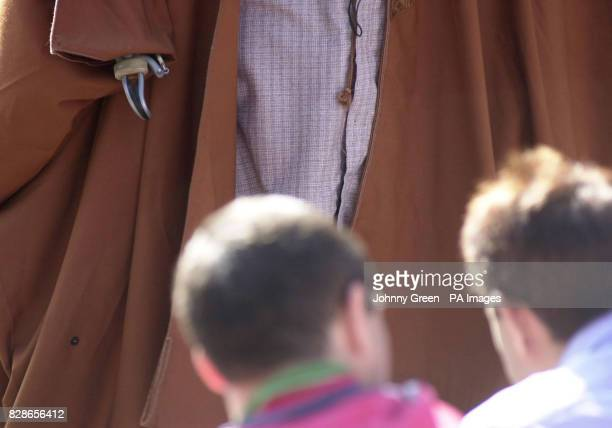 Muslim cleric Abu Hamza addresses an audience of around 120 during lunchtime prayers outside Finsbury Park Mosque in north London Mr Hamza claimed...