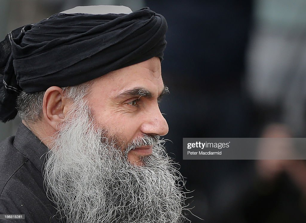 Muslim Cleric <a gi-track='captionPersonalityLinkClicked' href=/galleries/search?phrase=Abu+Qatada&family=editorial&specificpeople=643772 ng-click='$event.stopPropagation()'>Abu Qatada</a> arrives home after being released from prison on November 13, 2012 in London, England. <a gi-track='captionPersonalityLinkClicked' href=/galleries/search?phrase=Abu+Qatada&family=editorial&specificpeople=643772 ng-click='$event.stopPropagation()'>Abu Qatada</a> was released on bail, having won his appeal against deportation, claiming he would not get a fair trial in Jordan where he is accused of plotting bomb attacks.