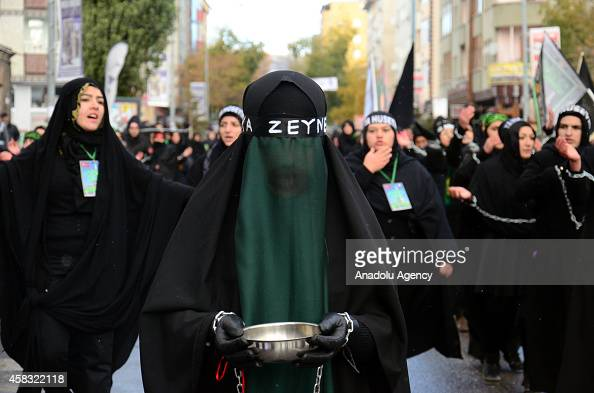Muslim devotees take part in a morning procession marking the day of Ashura in Kars Turkey on November 3 2014 Shiite Muslims are observing the Ashura...