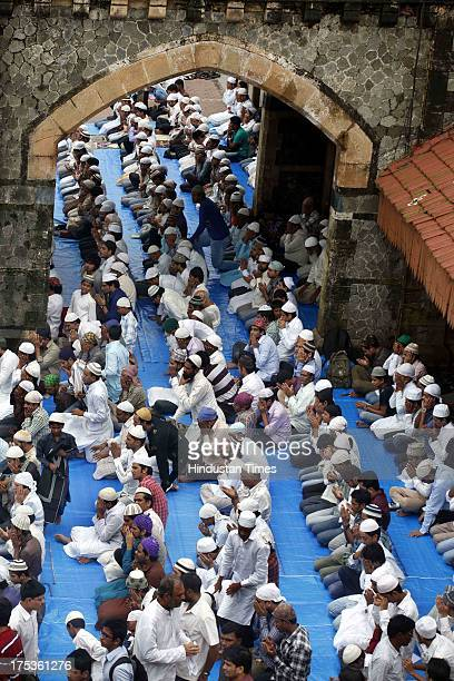 Muslim devotees took part in the last Friday prayers during the holy month of Ramadan ahead of the Eid alFitr festival marking the end of the fasting...