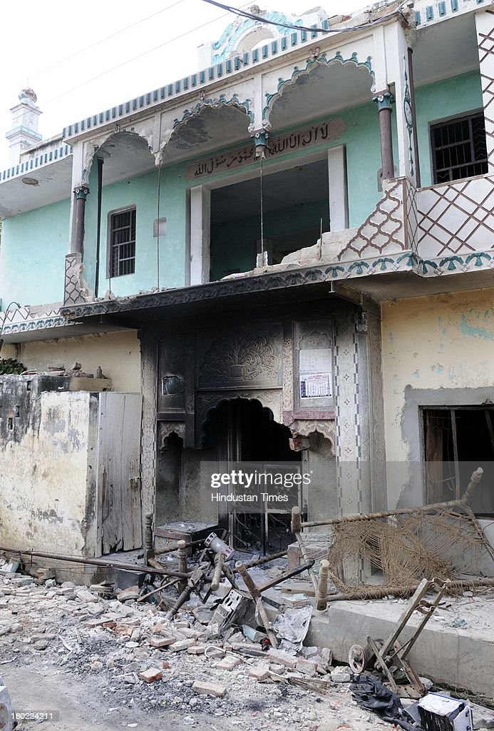 Muslim house burnt during communal clash at Kangda village on September 10, 2013 in Muzaffarnagar, India. No untoward incident was reported from Muzaffarnagar today as 975 people were arrested for their direct or indirect role in the communal violence that has left 35 dead.