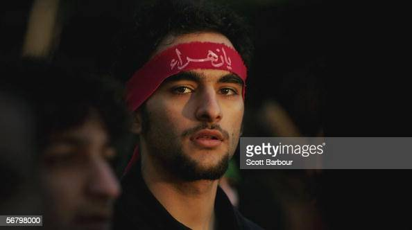 A muslim man takes part in the religious procession held on the holy day of Ashura on February 9 2006 in London England Ashura remembers the slaying...