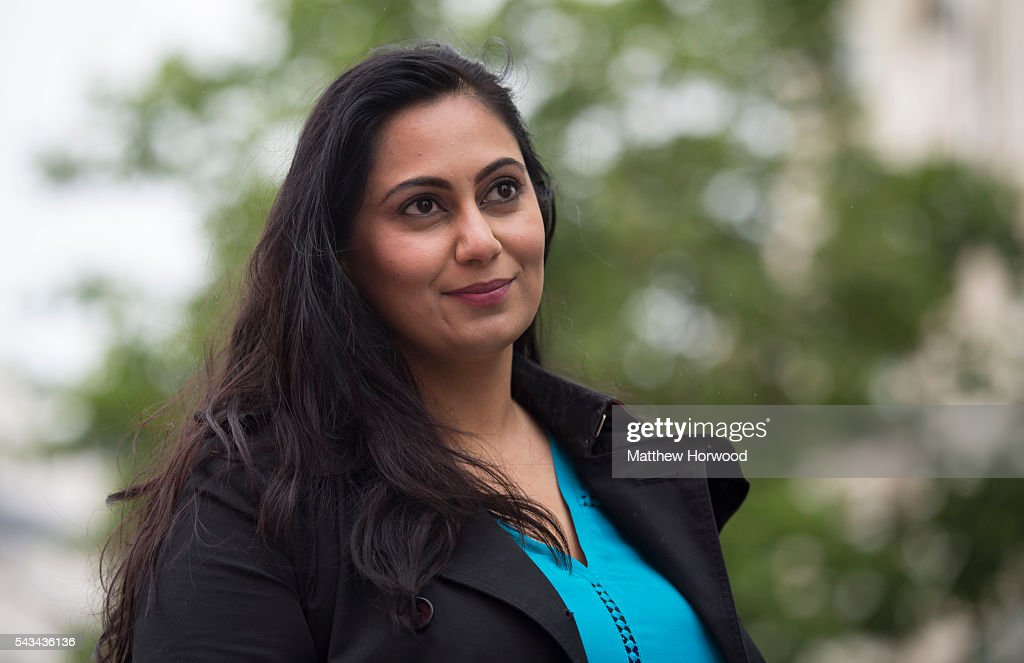 Muslim Remain campaigner Shazia Awan, a former Conservative parliamentary candidate, poses for a picture during an anti-Brexit rally on June 28, 2016 in Cardiff, Wales. The protest is at a time of economic and political uncertainty following the referendum result last week, which saw the UK vote to leave the European Union.