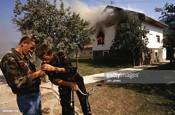 Muslim villages destroyed