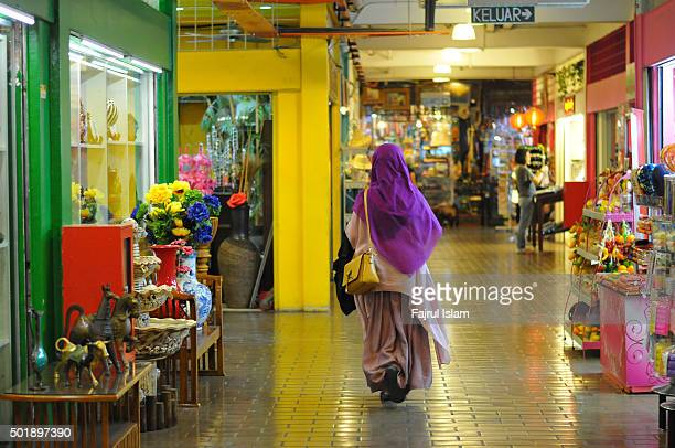 Muslim Woman at Shop Center