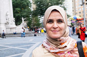 Muslim woman in Central Park