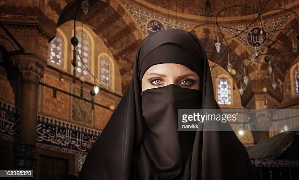 Muslim Woman in the Mosque