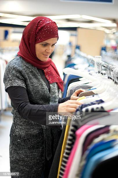 イスラム教徒の女性服街