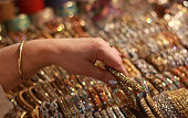 Muslim Women are busy selecting bangles and artificial jewelries in preparation of the upcoming Eidul Fitar at Anarkali Bazaar