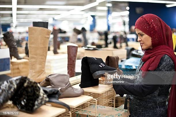イスラム教徒の女性の靴屋ます。