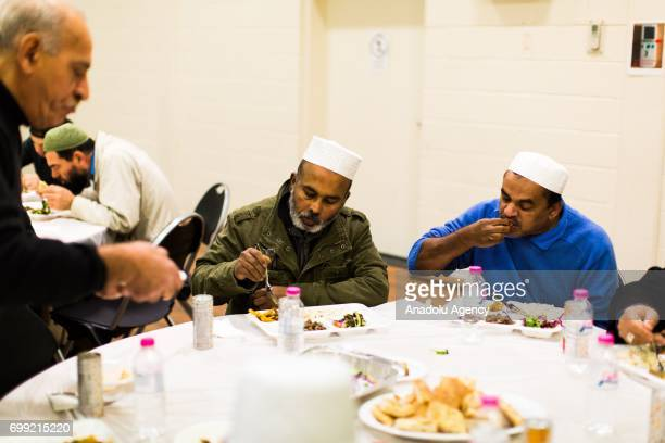 Muslim worshipers break the fast on Laylat AlQadr in the Muslim holy fasting month of Ramadan at Emir Sultan Mosque in Dandenong Melbourne Australia...