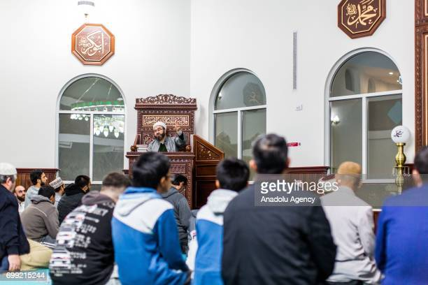 Muslim worshipers observe Laylat AlQadr in the Muslim holy fasting month of Ramadan at Emir Sultan Mosque in Dandenong Melbourne Australia on June 21...