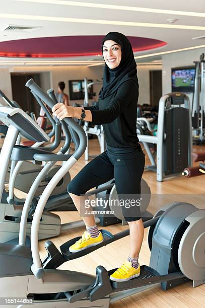 Muslim Young Woman Exercising