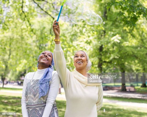 #MuslimGirls With Bubble Wand