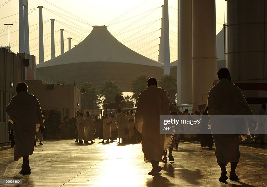Muslims arrive at King Abdulaziz International Airport at the Red Sea port city of Jeddah as believers from all over the world begin to arrive in...