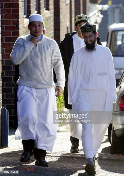 Muslims arriving for a oneday convention in Birmingham of Islamic leaders from around Britain to discuss their theological position on the war on...