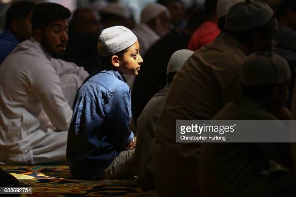 Muslims attend Friday prayers at Manchester Central Mosque where they prayed for the victims and injured in the Manchester Arena bombing and also...