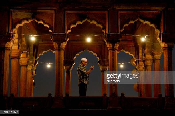 Muslims celebrated the month of Ramadan in Delhi on June 6 2017 prefer to break their fast at Historic Jamia Masjid mosque at Old Delhi