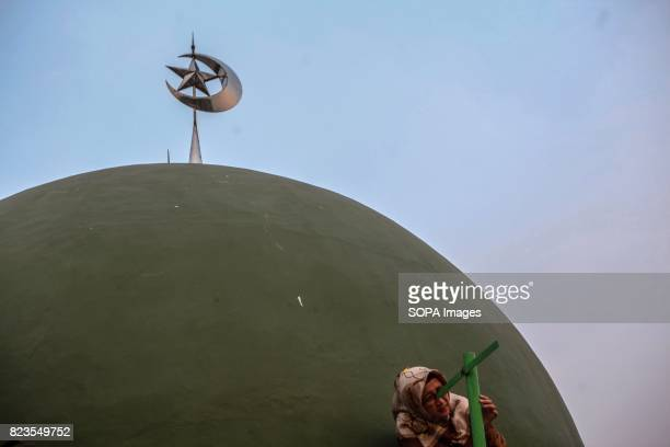 Muslims hold a 'Rukyatul Hilal' to see the new crescent moon that determines the start of Ramadan i This activity to confirmed sightings of the new...