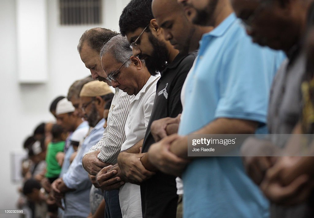 Muslims pray together on the evening of the first day of Ramadan at the Islamic Center of Greater Miami on August 1, 2011 in Miami, Florida. Worlwide Muslims honor Ramadan with the sighting of the new moon and is marked with fasting each morning at dawn and ends in the evening at dusk of each day for the next month, culminating in the three-day Eid ul-Fitr celebration