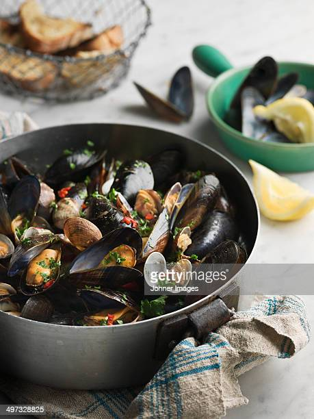Mussels in pot, Sweden