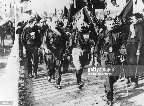 Mussolini and Fascists at Naples on the evening prior to their March on Rome
