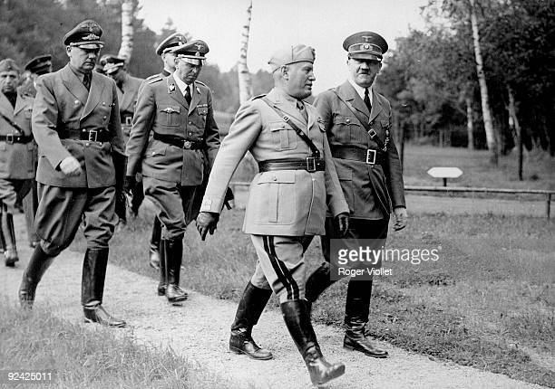 Mussolini and Hitler on the Russian front 1942