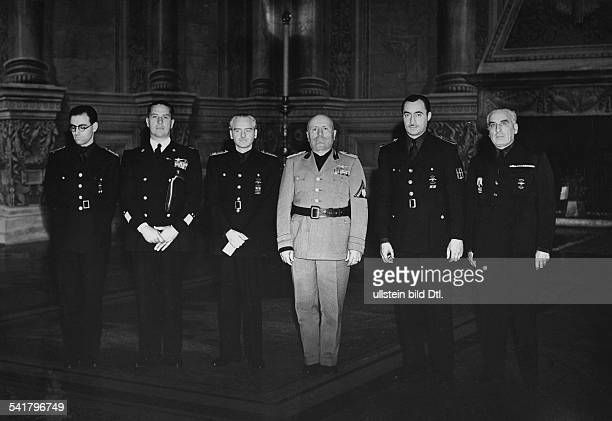 Mussolini Benito Politician Italy*29071883receiving Spanish Minister for Foreign affairs Ramon Serrano Suner in Rome 2nd from left Galeazzo Ciano...