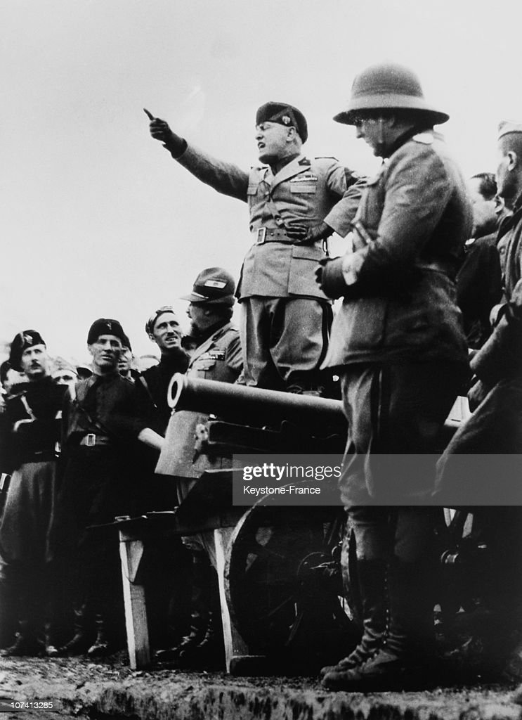 Mussolini Speaking To The Blackshirts On June 1935. Pictures ...
