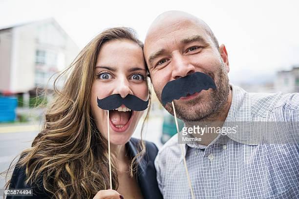 Moustaches une autophoto