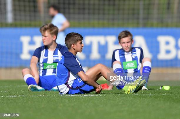 Mustafa Abdullatif of Hertha BSC U14 after the game of the 3rd place during the Nike Premier Cup 2017 on may 7 2017 in Berlin Germany