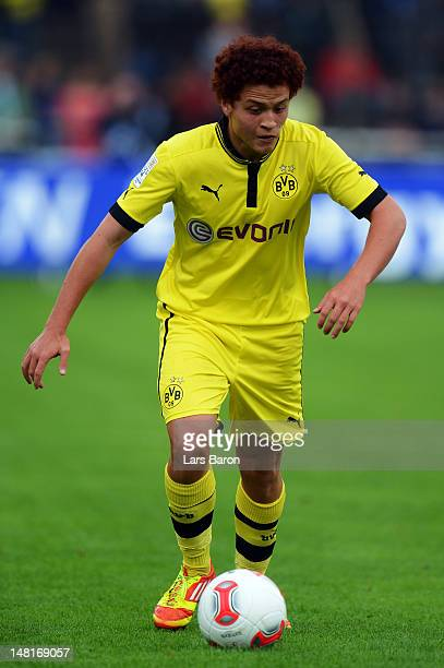 Mustafa Amini of Dortmund runs with the ball during a friendly match between SV Meppen and Borussia Dortmund at MEPArena on July 11 2012 in Meppen...